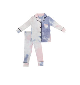 Lux Lux Infant  Tie Dye Rib Grampa Style Pajama