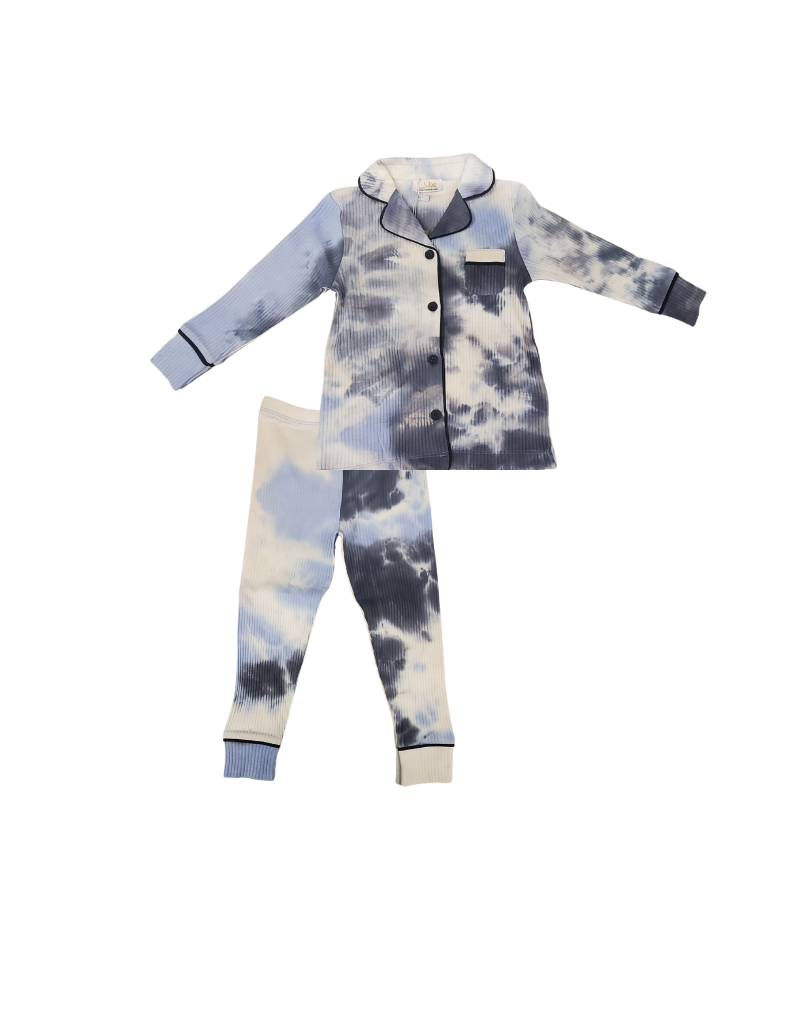Lux Lux Tie Dye Rib Grampa Style Pajama