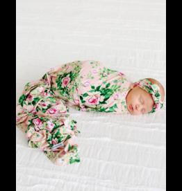 Posh Peanut Posh Peanut Renia  Infant Swaddle and Headwrap Set