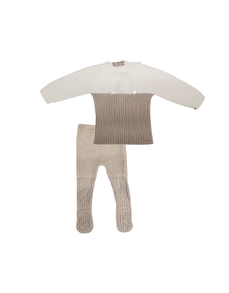 Carmina Carmina Infant Two Colors Long Sleeve Set