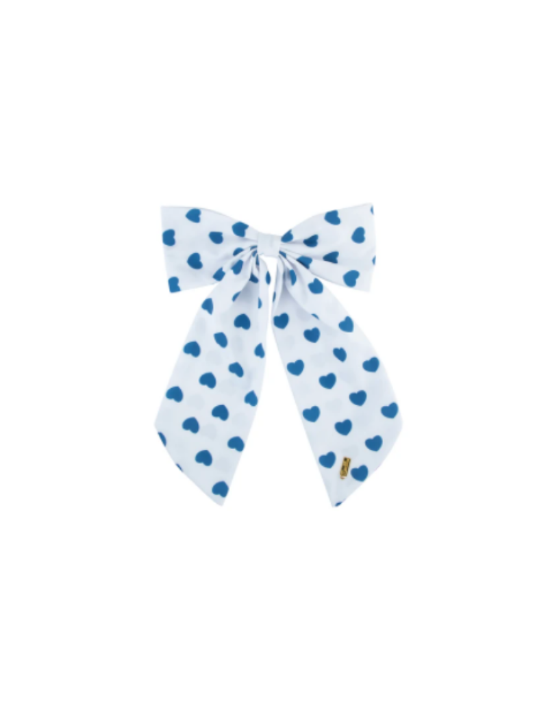 Heirlooms Heirlooms Cotton Heartsy Long Bow Clip