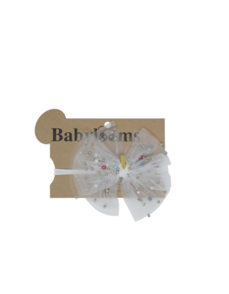 Heirlooms Heirlooms Tulle Bow With Pearls Mini Band