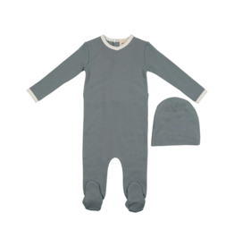 Mema Knits Mema Knits Contrast Footie with Hat