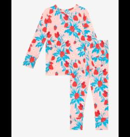 Posh Peanut Posh Peanut Infant Strawberry Long Sleeve Basic Pajama