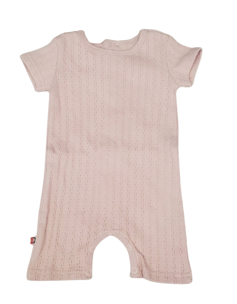 Blinq Blinq  Back Block Button Pointelle Romper