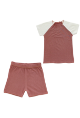 Hatch'd Hatch'd Infant  Color Block  Short Sleeve Set