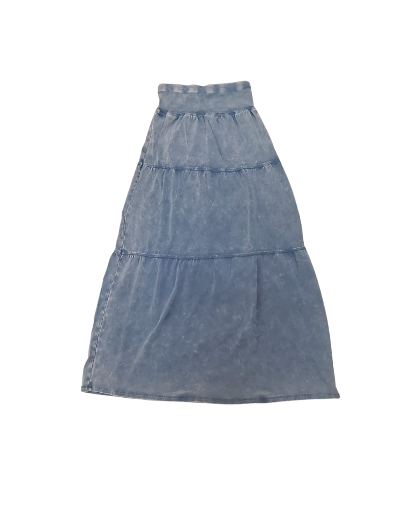 Five Stars Five Stars Girl  Rib Wash Tired Long Skirt