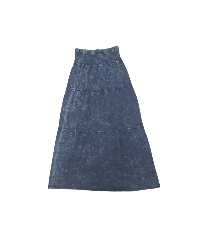 Five Stars Five Stars Rib Wash Girl Long Tiered Skirt