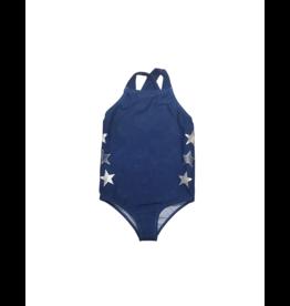 Try Try Girl Star Wash Denim Swimsuit