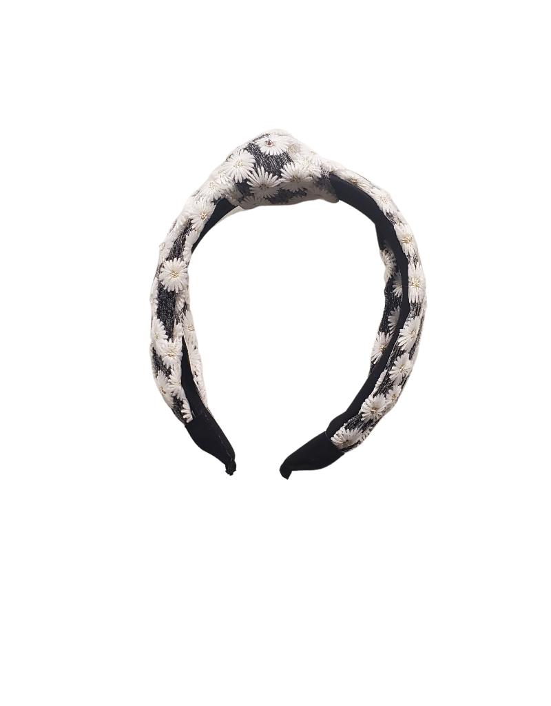 Bari Lynn Bari Lynn Crystallized Knot Lace Overlay Headband