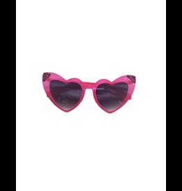 Bari Lynn Bari Lynn Crystallized Heart Sunglasses