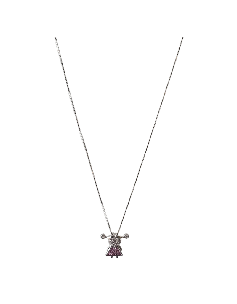 Jeweliette Jewels Jeweliette Diamond Girl Pendant on Chain