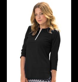 Undercover Waterwear Undercover Waterwear Ladies 3/4 Sleeve With Half-Zip Swim Top