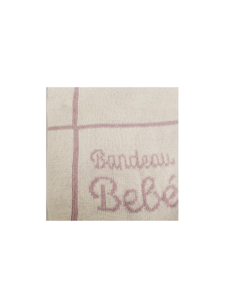 Bandeau Bandeau Bebe Knit Blanket Grid Design