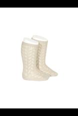 Condor Condor Zig Zag Crochet Knee Sock 2593/2