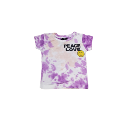 flowers by zoe Flowers By Zoe Peace Love Tie Dye Top
