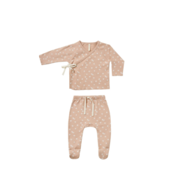 Quincy Mae Quincy Mae Kimono Top Plus Footed Pant Set