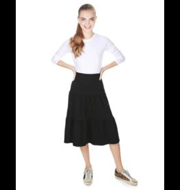 "the SLIM skirt the SLIM skirt ""Market"" Black Ruffle Tiered Skirt"