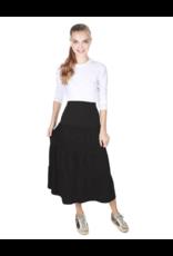"""the SLIM skirt the SLIM  skirt """"Market"""" Black Ruffle Tiered Midi"""