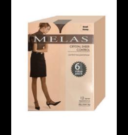 Melas Melas Crystal Sheer Control 6 Pack Pantyhose - AS-6096