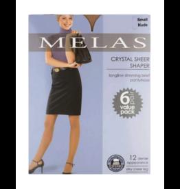 Melas Melas Crystal Sheer Shaper 6 Pack Pantyhose - AS-6116
