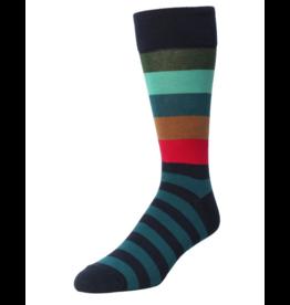 Memoi Memoi Men's Bold Stripes Crew Socks MMF-000020