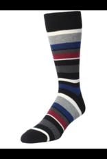 Memoi Memoi Men's T-Shirt Stripes Crew Socks  MMF-000019