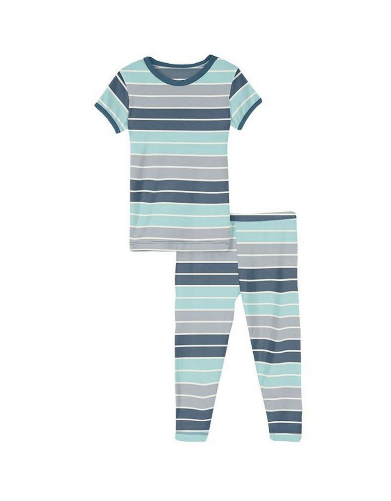 Kickee Pants Kickee  Stripe Print Short Sleeve Pajama Set