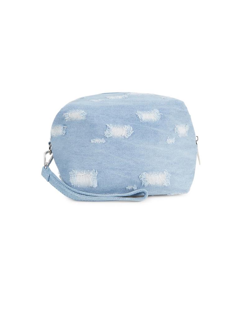 Bari Lynn Bari Lynn  Denim Cosmetic Bag