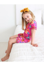 Posh Peanut Posh Peanut Aminatu Basic Short Sleeve Micro Ruffled T-Shirt & Micro Ruffled Short