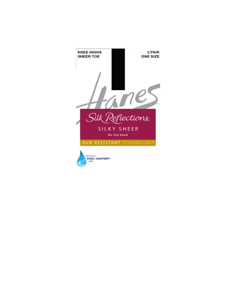 Hanes Hanes Silk Reflections Silky Sheer No Slip Band Knee Highs 0A990