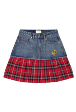 It's In My Jeans It's In My Jeans Denim Skirt with Flannel