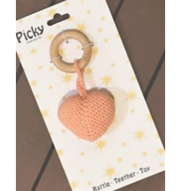 Picky Picky Baby Heart Rattle Teether