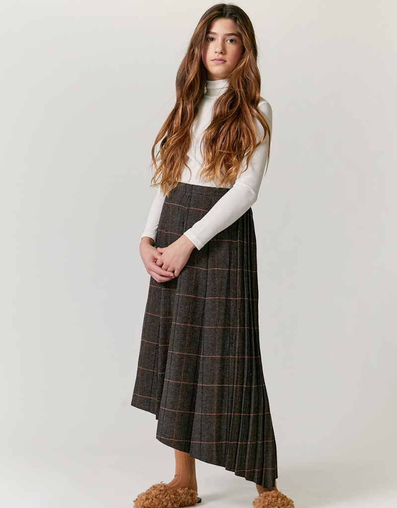 Kipp Kipp Pleated Plaid Skirt