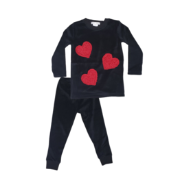 Coton PomPom Coton Pompom  Hearts Velour Pajama