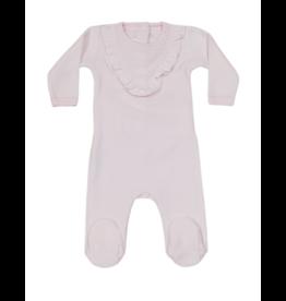 Coton PomPom Coton Pompom  Baby Pink Velour Footie