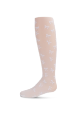 infinity fashion Memoi Flocked Sheer Bouncing Bow Tight MKF-4035