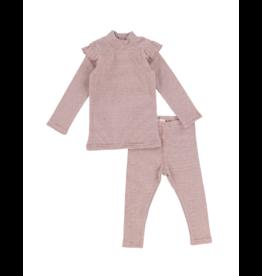 Lil legs Analogie Infant  Mini Stripe Ruffle Set