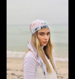 The Scarf Bar The Scarf Bar White Thorn Rose Headscarf
