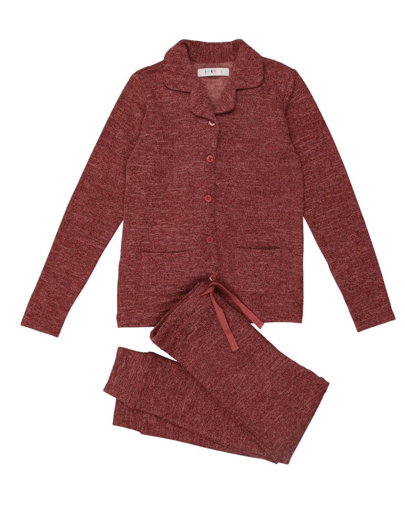 Coco Blanc Coco Blanc  Infant Knit Grandpa Pajama