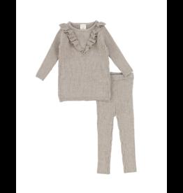 Analogie Analogie  Infant Knit Ruffle  Set