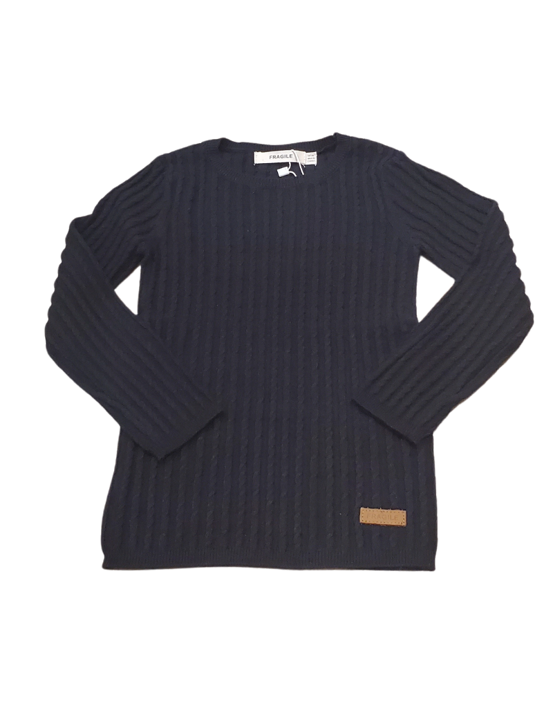 Fragile Fragile Infant  Cable Rib Knit Top