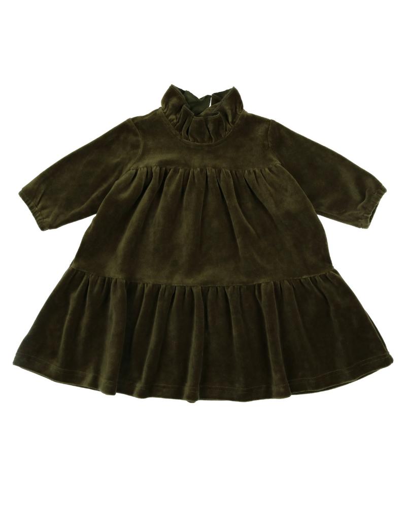 Kin + Kin Kin+Kin Velour Short High-Waist Dress
