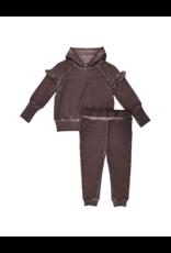Kin + Kin Kin+Kin infant Frill Hooded Set