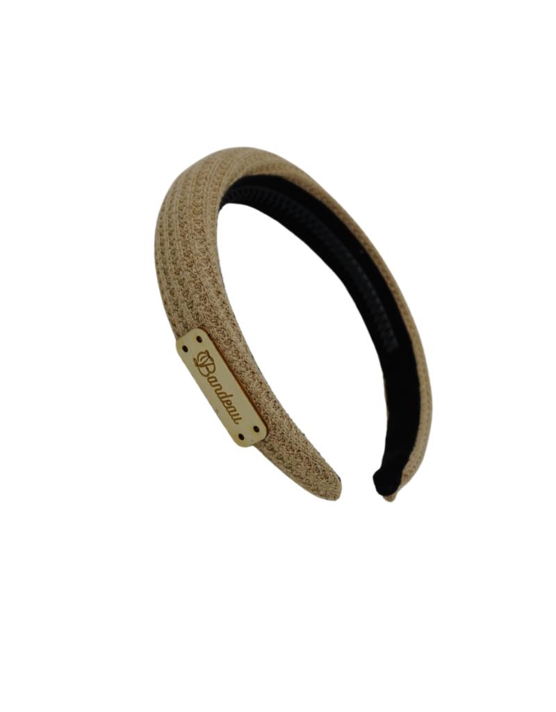 Bandeau Bandeau Waffle Knit Padded Headband