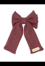 Bandeau Bandeau Waffle Knit Large Bow Clip