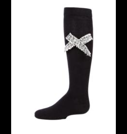 Memoi Memoi Tweed Bow Knee High-MKF-7016