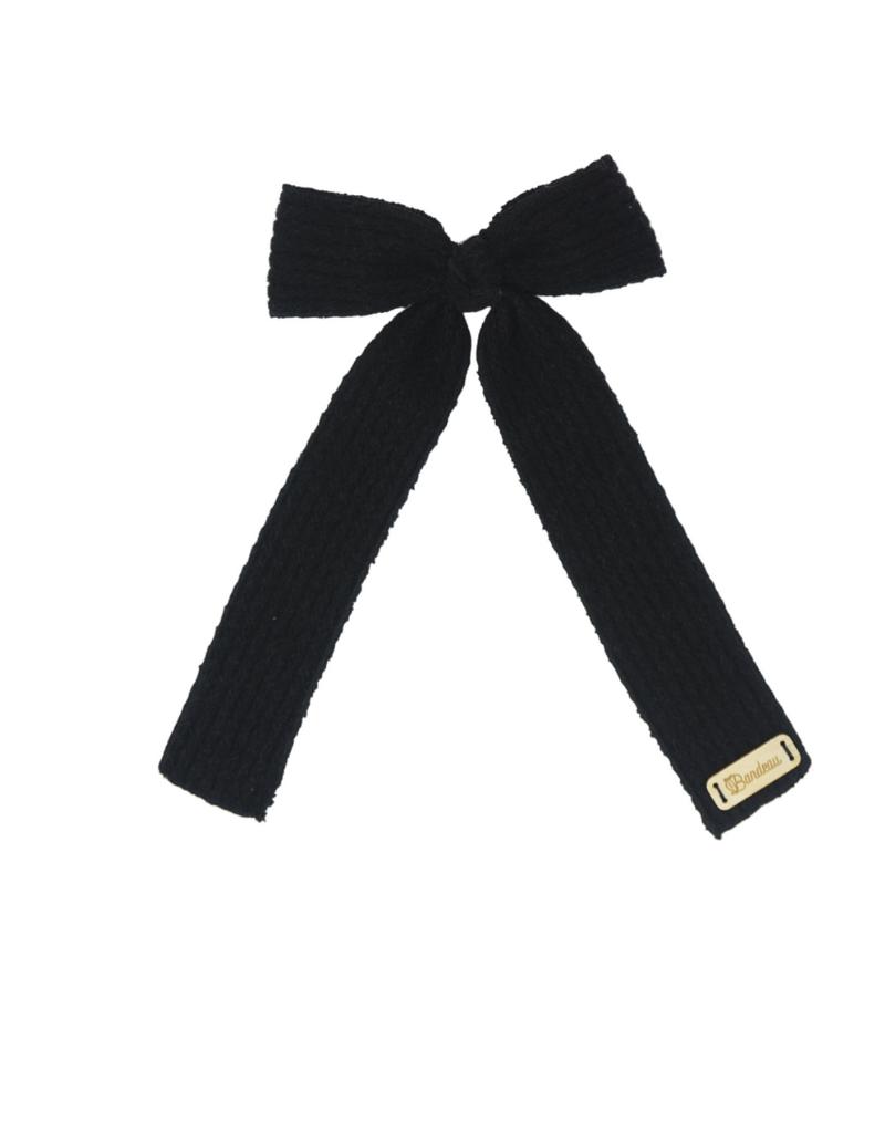 Bandeau Bandeau Mohair Cable Crochet XL Bow Hair Clip