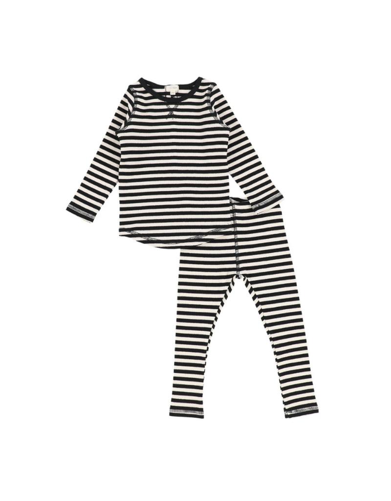 Lil legs Lil legs Infant Stripe  Ribbed set