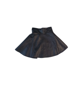 Teela Teela  Circle Metallic Leather Skirt